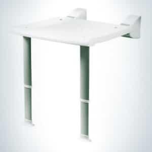 Duschklappsitz Profilo Weiß mit Füßen bis 130 kg