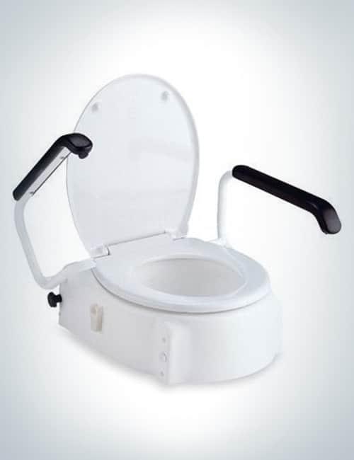 toilettensitzerh hung mit armlehnen bis 120 kg wa s barrierefrei. Black Bedroom Furniture Sets. Home Design Ideas