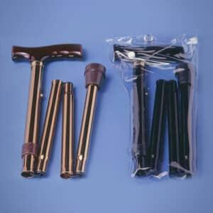 Gehstock faltbar (schwarz/bronze)